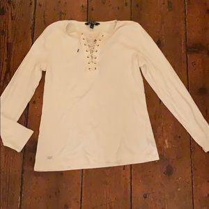 Ralph Lauren lace up long sleeve shirt